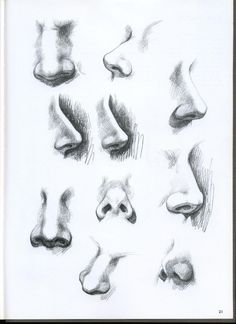 10 illustrated nose drawing ideas and inspiration. Learn how you can draw noses step by step. This tutorial is perfect for all art enthusiasts. Art Drawings Sketches Simple, Pencil Art Drawings, Realistic Drawings, Drawing Ideas, Pencil Sketching, Face Drawing Tutorials, Drawing Tips, Face Drawings, Drawing Templates