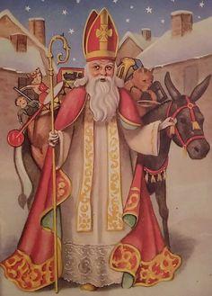 Sinterklaas met ezel