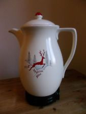 Crown Devon Coffee Perculator Leaping Deer Rare Retro Vintage