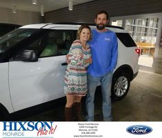 Congratulations Bambi on your #Ford #Explorer from Scott Turner at Hixson Ford of Monroe!  https://deliverymaxx.com/DealerReviews.aspx?DealerCode=M553  #HixsonFordofMonroe