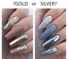 46 Attractive Nail Art Designs For Coffin Nails 2018 The Acrylic Coffin Nail Designs Ideas are so perfect for Hope they can inspire you and read the article to get the gallery. Gorgeous Nails, Love Nails, Pink Nails, Gel Nails, Acrylic Nails, Nail Nail, Purple Chrome Nails, Purple And Silver Nails, Chrome Nail Art