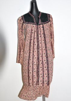 Vintage 1970s India Flora Indian Print Dress very sold