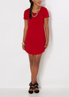 Red Crepe Mini Dress | rue21