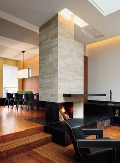Joshua Bell Manhattan Penthouse, New York City designed by Charles Rose :: fireplace