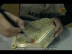 Transamérica - Artesanato: Técnica da pátina franscesa com Betume Colors...