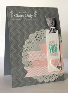 Chevron embossing folder, Stampin' Up! Chalk Talk by Claire Daly, Australia