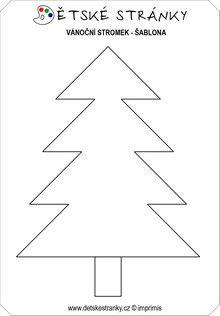 vánoční stromek šablona - Hledat Googlem