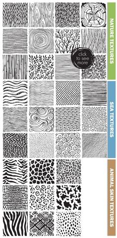 Big abstract textures set by Fancy art on Creative Market Big abstract textures se Doodle Patterns, Zentangle Patterns, Zentangle Art Ideas, Zentangle Drawings, Art Drawings, Zentangles, Grafik Art, Texture Drawing, Texture Sketch