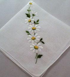 Vintage Handkerchief Embroidered Wedding by MyVintageHankies