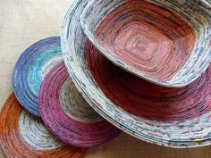 Newspaper Bowls and mats
