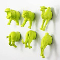 アニマルマグネット6個セット | トラ、カバ、ラクダ | おもしろ雑貨 サファリ&ジャングルからこんにちは by Original Animal Magnet