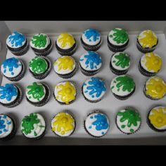 Cutest paint ball cupcakes ever