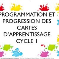 Cartes d'apprentissage cycle 1 tous domaines version 2013