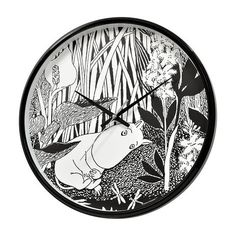 Moomintroll dreaming wall clock
