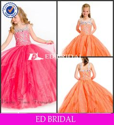 Cute 10 Year Old Dresses Heavy Beaded Sequins