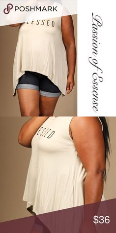 "🆕🅿️ Plus Size Taupe Blessed Sleeveless Loose Top ""Coming soon "" Taupe Blessed Sleeveless Loose Fitted Top made in the USA 95% Rayon 5% Spandex.  if you like to order, just click the like button and tag your name with your requested sized and You will notify as soon as shipment has arrived. Passion of Essense Tops Tees - Short Sleeve"
