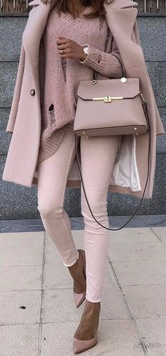 Fashion Outfits: monochrome rose nude | outfit that might work