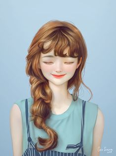 ArtStation - Stylized Portrait, Geo Siador Beautiful Girl Drawing, Cute Girl Drawing, Cartoon Girl Drawing, Cartoon Art, Cartoon Girl Images, Cute Cartoon Pictures, Cute Cartoon Girl, Digital Art Anime, Digital Art Girl