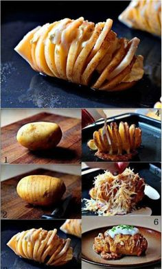 Baked Potato With Cheese And Cream Sauce
