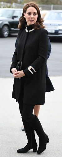 22 Nov 2017 - Cayherine, Duchess of Cambridge wears Goat Washington coat for engagements in Birmingham