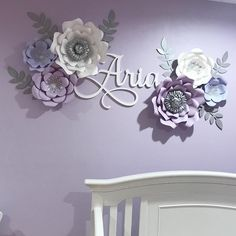 """169 Likes, 15 Comments - Mayra (@creationsbymayra) on Instagram: """"Client share. This is how my client displayed some of the flowers I made for her baby's nursery.…"""""""
