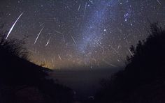 """The image was taken Dec. 13, 2012. Skywatcher Kenneth Brandon wrote, """"This shot is a composite of about 700 frames from a time-lapse I took in Big Sur, Calif."""