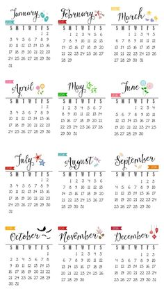 Free printable 2016 calendar. Works great for your desk, office space, or by the telephone. SO cute and perfect for gift ideas!