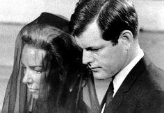 ethel kennedy   Ethel Kennedy is escorted by her brother-in-law, Sen. Edward Kennedy ...