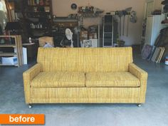 Before & After: An Affordable Mid-Century Modern Couch Makeover | Apartment Therapy