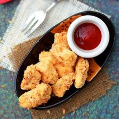 Baked Chicken Nuggets Recipe - no processed, blended meat nasties! Yes!
