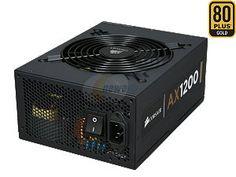 CORSAIR Professional Series Gold AX1200 (CMPSU-1200AX) 1200W ATX12V v2.31 / EPS12V v2.92 SLI Certified 80 PLUS GOLD Certified Full Modular Active PFC Power Supply