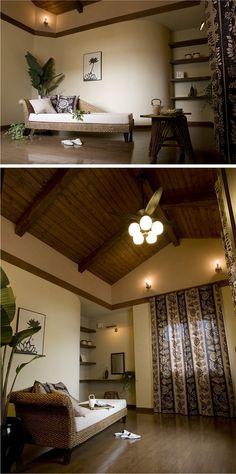 アジアンリゾートをイメージした天井の高い寝室。|インテリア|おしゃれ|自然素材|