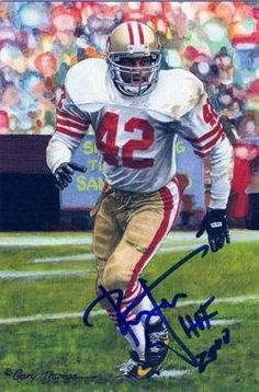 523aca74b Ronnie Lott Autographed signed San Francisco 49ers Goal Line Art In Blue  W hof · Nfl Hall Of FameFootball ...