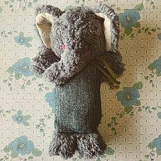 大きいぞう♪ #elephants #大きなぞう#ぞうくん #yoshimaruぬいぐるみ #ぬいぐるみ #手仕事 #ゾウ#冬のポケット