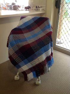 Handmade Toddler Tartan Crochet Blanket on Etsy, $35.00 AUD