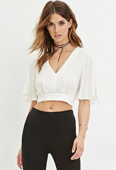 $22.90 Contemporary Textured Crop Top | Forever 21 - 2000146761