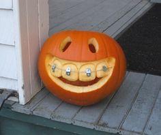 DIY Halloween Pumpkin with Braces  - http://www.amazinginteriordesign.com/diy-halloween-pumpkin-with-braces/