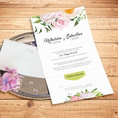 #Einladungskarte #Hochzeit #Summer Love #Flower #Blumen #Floral