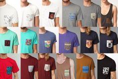 Sou básico, mas quero usar tendências. Saiba como. A tendência das camisetas com bolso estampado, já virou hit e parece que veio para ficar. É uma ótima alternativa para quem adora um estilo basicão....