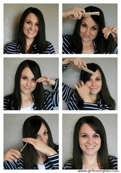 how to cut choppy bangs at home