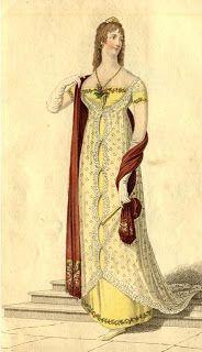 Curse Words and Crinolines: Regency evening gown inspiration Historical Costume, Historical Clothing, 1800s Clothing, Female Clothing, Vintage Clothing, Regency Dress, Regency Era, Wild Girl, 19th Century Fashion