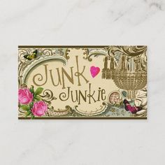 Shop GC Customizable Junk Junkie Business Card created by TheGreekCookie. Thrift Store Art, Thrift Store Outfits, Thrift Store Shopping, Thrift Store Furniture, Dollar Store Crafts, Dollar Stores, Thrift Store Donations, Cute Shirt Sayings, Junk Gypsies Decor