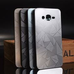 3D Diamond Aluminum Metal Water Cube   PC Material Phone Cases For Samsung Galaxy Grand Prime G530 G530H G530M G530FZ Case Cover