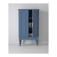ISALA Cabinet - blue - IKEA ($179) - cabinet for bath, maybe with different legs?  Also in white.