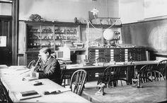 old science lab - invite idea