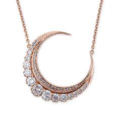 GRADUATED DIAMOND CRESCENT MOON NECKLACE by Jacquie Aiche