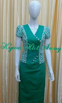 Best 12 Turquoise and pink combination with pink rose – SkillOfKing. Myanmar Traditional Dress, Traditional Dresses, Myanmar Dress Design, Suits For Women, Clothes For Women, Stylish Blouse Design, Batik Dress, Women's Fashion Dresses, Dress Patterns