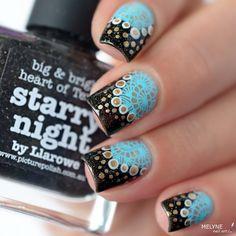Petit Nail art d'avant vacances encore  avec Starry Night by…