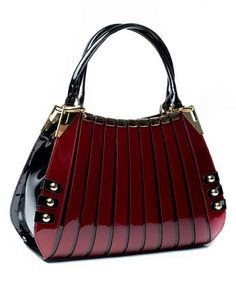 Another great find on #zulily! Red Lattice Irina Leather Tote #zulilyfinds