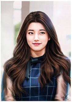 Bae Suzy / Korean Girls Cutie,Beautiful [[ Digital Painting ]] Artist : FB : @JakkreeJantakad